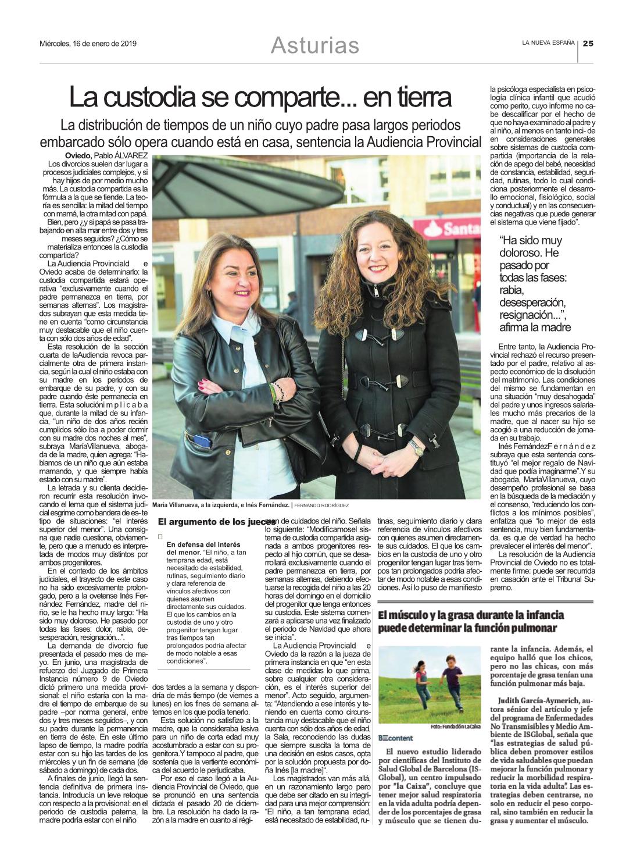 noticia de prensa 2 María Villanueva Abogado de Familia en Oviedo